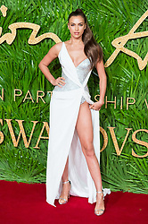 © Licensed to London News Pictures. 04/12/2017. London, UK. IRINA SHAYK arrives for The Fashion Awards 2017 held at the Royal Albert Hall. Photo credit: Ray Tang/LNP