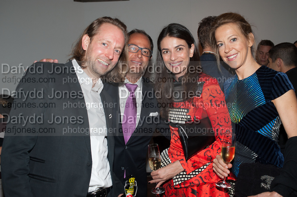 Torsten Emuth; Geoffrey Meyers; Leila Yavari; Dagmar Mueller, DINNER TO CELEBRATE THE ARTISTS OF FRIEZE PROJECTS AND THE EMDASH AWARD 2012 hosted by ANDREA DIBELIUS founder EMDASH FOUNDATION, AMANDA SHARP and MATTHEW SLOTOVER founders FRIEZE. THE FORMER CENTRAL ST MARTIN'S SCHOOL OF ART AND DESIGN, SOUTHAMPTON ROW, LONDON WC1. 11 October 2012
