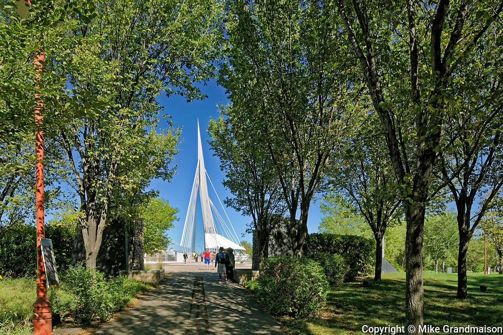 Esplanade Riel Bridge. Architect Etienne Gaboury, Winnipeg, , Canada