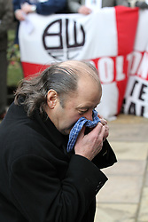 © under license to London News Pictures. 26/1/2011. Former player Frank Worthington arrives for the funeral of former Bolton Wanderers and England player Nat Lofthouse at Bolton Parish Church, Bolton. today (26/01/2011) Nat died at the age of 85. Photo credit should read:Joel Goodman/LNP