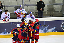 18.12.2011, Albert Schultz Halle, Wien, AUT, European Trophy, Finale, Jokerit vs EC Red Bull Salzburg, im Bild Torjubel Jokerit,  EXPA Pictures © 2011, PhotoCredit: EXPA/ T. Haumer