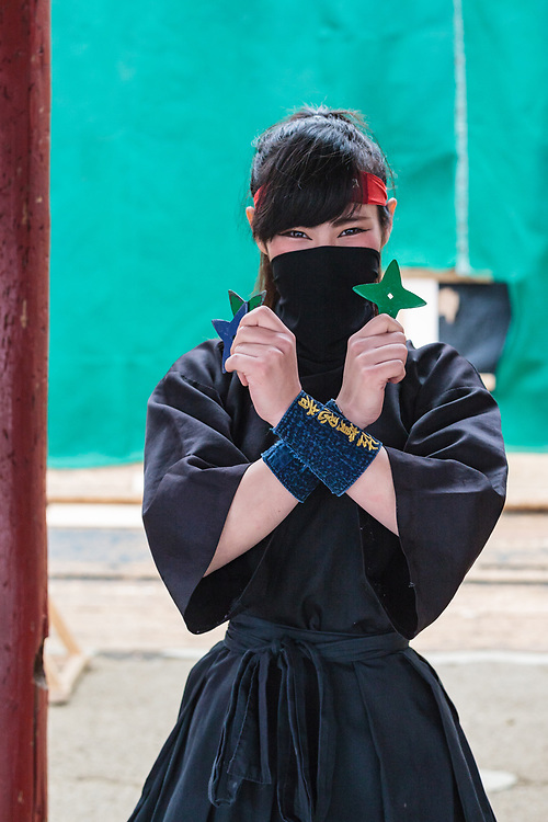 A young female ninja called Orin (Bell) showed me how to throw shurinken (metal star weapons) on the target practice range.
