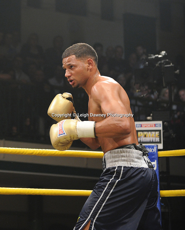 Robert Lloyd Taylor (pictured) defeats Peter Vaughan in Semi Final One of Prizefighter  - The Light Middleweights II. York Hall, Bethnal Green, London, UK. 15th September 2011. Photo credit: © Leigh Dawney.