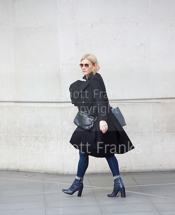 Michelle Collins <br /> BBC, Broadcasting House, London, Great Britain <br /> 26th March 2017 <br /> <br /> <br /> Michelle Collins arrives at the BBC <br /> <br /> Photograph by Elliott Franks <br /> Image licensed to Elliott Franks Photography Services