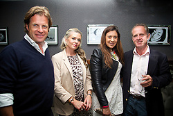 LIVERPOOL, ENGLAND - Saturday, June 21, 2014: Tournament Director Anders Borg and Marion Bartoli with sponsors during a players' dinner on Day Three of the Liverpool Hope University International Tennis Tournament at Chaophraya. (Pic by David Rawcliffe/Propaganda)