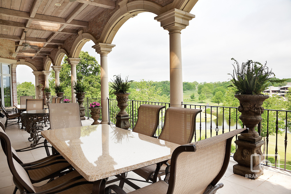 Back patio with beautiful view. Photo by Brandon Alms Photography