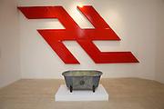 """54th Biennale of Venice..ILLUMInazioni - ILLUMInations.Giardini, Serbian Pavillion..Rasa (Dragoljub Todosijevic), """"Gott liebt die Serben I"""", 2011."""
