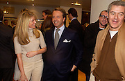 Avery Agnelli and Andrea Della Valle, Opening of a Tod's boutique, Old Bond St. 19 Nov 2003. © Copyright Photograph by Dafydd Jones 66 Stockwell Park Rd. London SW9 0DA Tel 020 7733 0108 www.dafjones.com