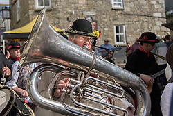 Mazey Day celebrations in Penzance, Cornwall.