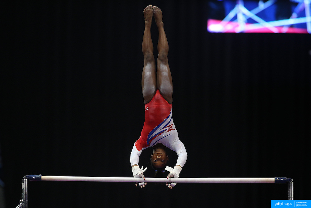 Simone Biles, Spring, Texas, in action on the Uneven Bars while winning the All-Round title during the Senior Women Competition at The 2013 P&G Gymnastics Championships, USA Gymnastics' National Championships at the XL, Centre, Hartford, Connecticut, USA. 17th August 2013. Photo Tim Clayton