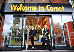 © Licensed to London News Pictures. 01/11/2012. London,UK.Comet electrical store on Old Kent road today 01 November 2012.The electrical company is to enter administration next week with over 6,000 jobs now at risk..Photo credit : Thomas Campean/LNP.