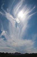 Cloud formatations with sun, Van Horn, Texas