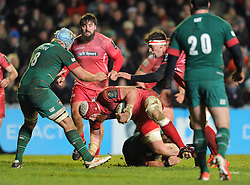 Scarlets lock, Jake Ball - Photo mandatory by-line: Dougie Allward/JMP - Mobile: 07966 386802 - 16/01/2015 - SPORT - Rugby - Leicester - Welford Road - Leicester Tigers v Scarlets - European Rugby Champions Cup