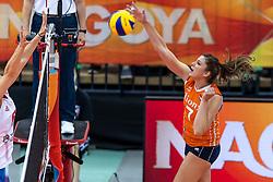 11-10-2018 JPN: World Championship Volleyball Women day 12, Nagoya<br /> Netherlands - Serbia 3-0 / Juliet Lohuis #7 of Netherlands