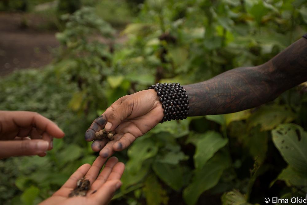 Village life at Sawre Muybu, a Munduruku indigenous community on the Tapajos River, Para, Brazil.