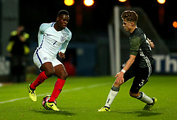 Jonathan Leko of England takes on Gian-Luca Itter of Germany Under 19s - Mandatory by-line: Robbie Stephenson/JMP - 05/09/2017 - FOOTBALL - One Call Stadium - Mansfield, United Kingdom - England U19 v Germany U19 - International Friendly