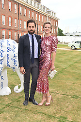 Diego Bivero-Volpe and Charlotte Carroll at the Concours d'éléphant in aid of Elephant Family held at the Royal Hospital Chelsea, London, England. 28 June 2018.