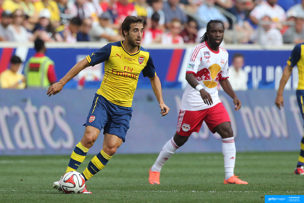 Mathieu Flamini, Arsenal, in action during the New York Red Bulls Vs Arsenal FC,  friendly football match for the New York Cup at Red Bull Arena, Harrison, New Jersey. USA. 26h July 2014. Photo Tim Clayton