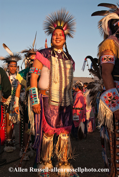 Powwow, Traditional Dancers, Crow Fair, Crow Indian Reservation, Montana