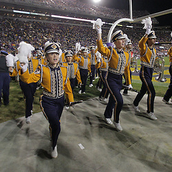 15 November 2008:  The LSU Band performs prior to kickoff of the NCAA football game between the Troy Trojans and the LSU Tigers at Tiger Stadium in Baton Rouge, LA.