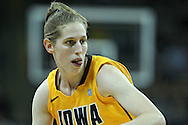 December 20, 2011: Iowa Hawkeyes forward Kelly Krei (20) drives with the ball during the NCAA women's basketball game between the Drake Bulldogs and the Iowa Hawkeyes at Carver-Hawkeye Arena in Iowa City, Iowa on Tuesday, December 20, 2011. Iowa defeated Drake 71-46.
