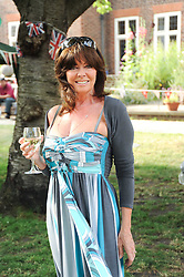Actress VICKI MICHELLE at the Lord's Taverners Diamond Jubilee Garden Party held in College Gardens, Westminster Abbey, London on 8th July 2010.
