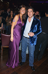 TARA GAMBLE and LUCA DEL BONO at the launch party of Purple Lounge - a new poker web site, held at The Cuckoo Club, Swallow Street, London W1 on 30th November 2005.<br />