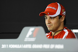 28.10.2011, Jaypee-Circuit, Noida, IND, F1, Grosser Preis von Indien, Noida, im Bild Felipe Massa (BRA), Scuderia Ferrari // during the Formula One Championships 2011 Large price of India held at the Jaypee-Circui 2011-10-28  EXPA Pictures © 2011, PhotoCredit: EXPA/ nph/  Dieter Mathis        ****** only for AUT, SLO,POL ******