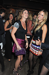 Left to right, FRANCESCA VERSACE and EUGENIE NIARCHOS  at a party to celebrate the opening of the Muzungu Sisters Pop Up Store at Momo - an ethically sourced fashion brand  held at Momo, 25 Heddon Street, London on 27th October 2011.