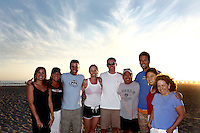 21 June 2008: A group of friends gather at the beach for a group photo.  Everybody in this photo is in their mid-30's and live in different parts of the United States.  Some are mothers, fathers, widowed and single people that have known eachother since grammar school.
