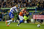 Michael Hector and Wes Thomas during the Sky Bet Championship match between Reading and Birmingham City at the Madejski Stadium, Reading, England on 22 April 2015. Photo by Adam Rivers.