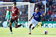 Fabian Delph (8) of Everton on the attack during the Premier League match between Bournemouth and Everton at the Vitality Stadium, Bournemouth, England on 15 September 2019.