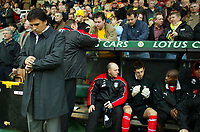 Fulham manager Chris Coleman checked his watch.