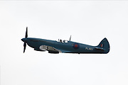 NHS Spitfire at North Weald Airfield on 10 July 2020. In honour of The NHS's 72nd Birthday and to thank NHS staff.