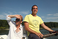 Kenneth Lilieholm and Tim Proto, LSA members on the LSA boat on the Danube