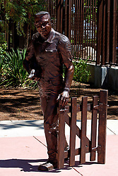 Statue of Charles Paddock outside of the Charles Paddock Zoo, Atascadero, California, United States of America