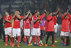 March 18, 2017 - Pacos De Ferreira, Pacos Ferreira, Portugal - Benfica's players in final match during the Premier League 2016/17 match between Pacos Ferreira and SL Benfica, at Mata Real Stadium in Pacos de Ferreira on March 18, 2017. (Credit Image: © Dpi/NurPhoto via ZUMA Press)