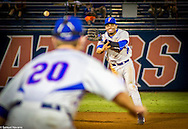 Florida shortstop Richie Martin (right) throws the ball to first baseman Peter Alonso for the first out of the seventh inning against the USF Bulls, Saturday, May 30, 2015 in Gainesville, Florida. (photo by Samuel Navarro)
