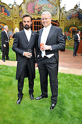 Left to right, EVGENY LEBEDEV and his father ALEXANDER LEBEDEV at the Raisa Gorbachev Foundation fourth annual fundraising gala dinner held at Stud House, Hampton Court, Surrey on 6th June 2009.