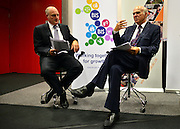 © Licensed to London News Pictures. 11/09/2012. London, UK. left-right David Gann, Head of Innovation at Imperial College and Vince Cable. Business Secretary Vince Cable delivers a speech at Imperial College, London, on how industry can shape the economy. Today, 11 September 2012. Photo credit : Stephen Simpson/LNP