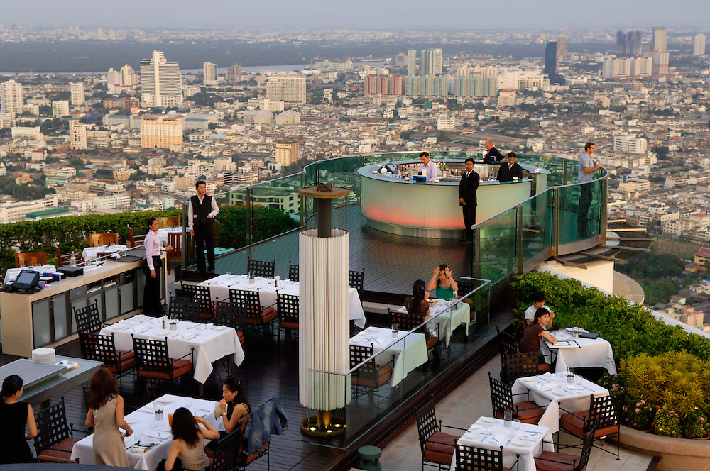 The Dome restaurant and bar on top of State Tower, Bangkok, Thailand