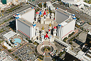 In an effort to attract more families to Sin City, Circus Circus Enterprises built the Excalibur Hotel and Casino. A medieval-themed hotel, its many attractions for children include a video arcade, a motion simulator, and a large family swimming pool. To date, it is the world's largest resort hotel, with 4,032 rooms.