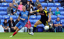 Marcus Maddison of Peterborough United battles with Joe Mattock of Rotherham United - Mandatory by-line: Joe Dent/JMP - 19/08/2017 - FOOTBALL - ABAX Stadium - Peterborough, England - Peterborough United v Rotherham United - Sky Bet League One