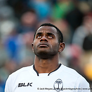 Fiji players stand for the Fijian national anthem before South Africa beat Fiji 19-12 in the Cup Final of the USA Sevens,  Round Five of the World Rugby HSBC Sevens Series in Las Vegas, Nevada, Sunday March 5, 2017. <br /> <br /> Jack Megaw for USA Sevens.<br /> <br /> www.jackmegaw.com<br /> <br /> jack@jackmegaw.com<br /> @jackmegawphoto<br /> [US] +1 610.764.3094<br /> [UK] +44 07481 764811