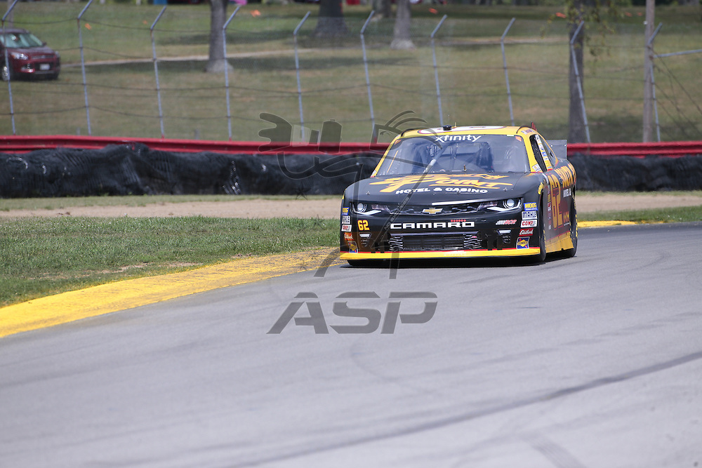 Lexington, OH - Aug 12, 2016: The NASCAR Xfinity series teams take to the track for a practice session for the Mid-Ohio 200 at the Mid-Ohio Sports Car Course in Lexington, OH.