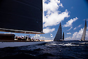 Ranger, J Class, sailing in the St. Barth's Bucket Regatta, day one.