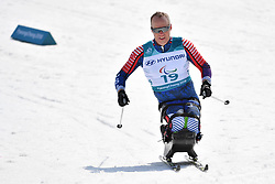 HALSTED Sean USA LW11.5 competing in the ParaSkiDeFond, Para Nordic Skiing, Sprint at  the PyeongChang2018 Winter Paralympic Games, South Korea.