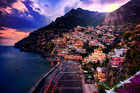 """Positano burst of color at sunset""…<br />