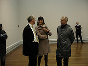 Charles Saumeraz Smith, Neil Tennant and Janet Strret-Porter, Ron Mueck, Making sculpture at the National Gallery. Private view hosted by the National Gallery and Art Review. 18 March 2003. © Copyright Photograph by Dafydd Jones 66 Stockwell Park Rd. London SW9 0DA Tel 020 7733 0108 www.dafjones.com