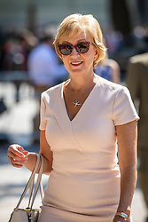 © Licensed to London News Pictures. 23/07/2019. London, UK. Former Leader of the House of Commons Andrea Leadsom arrives for the result of the Conservative Party leadership race. Boris Johnson has been elected as Leader of the Conservative Party and will become the next Prime Minister. Photo credit: Rob Pinney/LNP